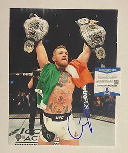 Conor McGregor UFC Signed 11x14 Photo Beckett BAS COA Autographed AUTO