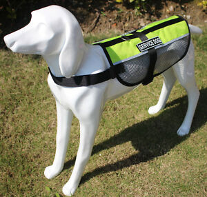 Reflective Mesh Service Dog Vest Therapy Harness w/ Free Service Dog Info Cards