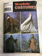 Simplicity 9887 Adult Wizzard Cape Tunic Medieval size XS-XL Sewing Pattern