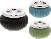 Aschenbecher Windaschenbecher Tischaschenbecher mit Deckel Uni Farbe Porzellan