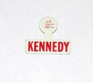 1960 JOHN F KENNEDY JFK TAB campaign pin pinback button political presidential