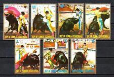 Animaux Corrida Guinée Equatoriale (115) série complète 7 timbres neufs**
