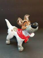 *READ Dodger Dog Ceramic Figurine Disney's Oliver & Company 1988 Japan Vintage
