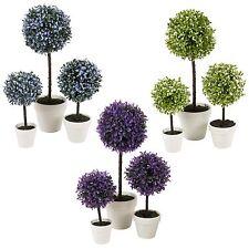 Planta Artificial Al Aire Libre Bola Decorativa Color Olla de árbol pequeño mediano grande