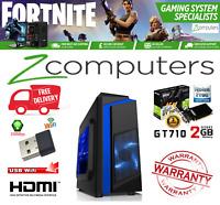 GAMING PC INTEL CORE 2 QUAD CiT F3 Computer 4GB 8GB 160GB 1TB HDD 1GB 2GB GT 710