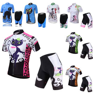 Women's Cycling Set Road Bike Clothes Short Sleeve Jersey and Cycle Shorts Kit