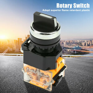 LA38-11X22 22mm 2 Position Auto Reset Selector Momentary Rotary Switch New