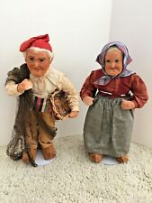 Antique Pair of Yvonne Spaggiari, Italian, RAVCA Type, Peasant Cloth Dolls!