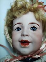 ANTIQUE BISQUE FRENCH LAUGHING BABY 236 MARKED SFBJ  SLANT LEG CHILD BODY 20""