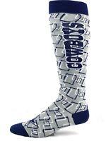 Dallas Cowboys Football Adult Long Gray and Blue Socks