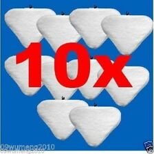 10x white washable Pads Floor Steam Mop Pad String MicroFiber H2O X5 Vax easyfit