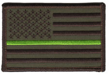 Thin Green Line Ranger Resource Protector American Flag Camo Patch