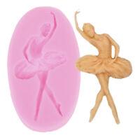 Ballet Dancer Silicone Mold Sugarcraft Fondant Mold Cake Decorating Tools JE YK