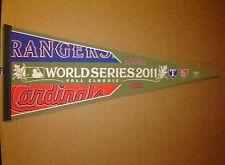 2011 World Series Cardinals vs Rangers Baseball MLB Pennant