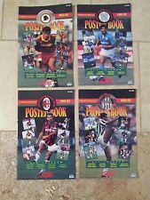 SCORE 1992-93 CALCIO Poster Books all 4 complete set NAPOLI MILAN JUVENTUS ROMA