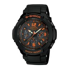 G-1200B-1A CASIO G-SHOCK GRAVITY DEFIER TOUGH SOLAR ANALOG BLACK ORANGE IN PACKY