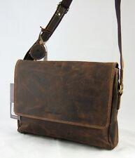 GreenBurry Messenger Rind-Leder 34*25*10 cm Ordnungswunder Schulter-Tasche 1731
