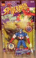 MARVEL SPIDER MAN   ELECTRO SHOCK  CAPTAIN AMERICA   THE ANIMATED SERIES    MOC