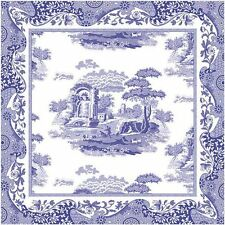 SPODE BLUE ITALIAN COTTON NAPKINS x4 (BY PIMPERNEL) NEW