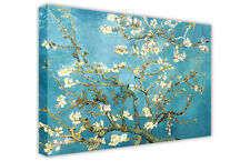 ALMOND BLOSSOM VAN GOGH LARGE BLUE CANVAS OIL PAINTING PICTURE RE-PRINT / ART
