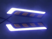2x High Power COB LED Car Daytime Running DRL Lamp w/ Turn Lights Waterproof