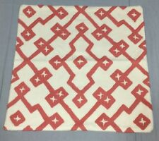 West Elm Rose Bisque Crewel Lattice Pillow Cover 18""