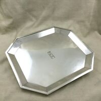 Rare Art Deco Christofle Large Tray Silver Plated French Geometric  1924