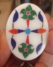 Alabaster Inlaid Trinket / Jewelry Box From India - Beautiful!