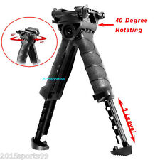 Hunting Rotating Fore Grip Rifle Bipod Stand Rail Vertical Tactical Foregrip
