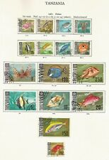 """TANZANIA 1967 """"TROPICAL FISHES"""" FULL SET OF 16 TO 20/- VERY FINE USED"""