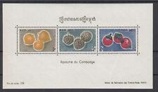 Kambodscha - Block 23 aus 1962 postfrisch - Früchte