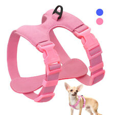 Soft Pet Dog Step-in Harness Suede Leather Walking Vest for Small Puppy Dogs S M