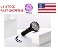 US 100 LED UV Blacklight Flashlight Lamp Outdoor Torch Inspection Light Violet