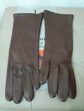 VINTAGE WOMEN'S LEATHER AND SILK GLOVES MADE IN ITALY GUANTI IN PELLE DONNA