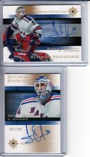 2005-06 Ultimate Collection #97 Henrik Lundqvist 2 x RC Auto LOT (2)