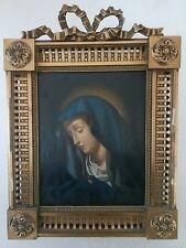 Carlo Dolci seg. MADONNA DEL DITO Olio su LEGNO fine 700 cm 23 x 28.5 dipinto.