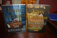 PAIR OF JOHN GRISHAM BOOKS FOR SALE NEVER READ: SYCAMORE ROAD & THE LITIGATORS