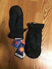 Kombi Kids Black Lined Waterguard Gloves Junior SZ XL NWT
