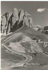 160787 TRENTO PASSO SELLA - ALBERGO RIFUGIO MARIA FLORA Cartolina FOT. viag 1966