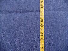 Blue Flocked Spots On Medium Weight Denim Cotton Fabric By The 1/2 Yard