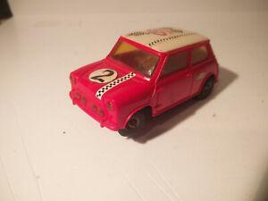 """Jouef slot vintage 1/43 """"Race Tuned"""" Austin Mini Cooper """"Préparée Course"""""""