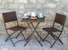 Salotto Giardino Rattan Sintetico Set Tavolino Sedie Duetto G. DEL RE