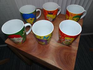 6 verschiedene Ritzenhoff / Jacobs-Krönung Kaffeebecher