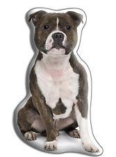 "Staffy / Staffie Dog Gift – Beautiful Large 'Cuddle Cushion'  approx 18"" x 16"""