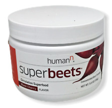 HumanN Super Beets Circulation Superfood Black Cherry Flavor Crystals 5.3 oz NEW