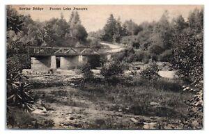 1945 Ravine Bridge, Pocono Lake Preserve, PA Postcard *6S6