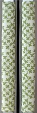 Refrigerator Oven Door Padded Handle Covers Green Ornaments Set of Two