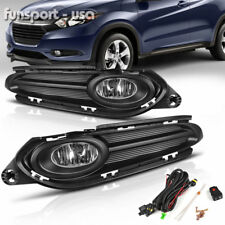 for 2016- Honda HRV HR-V Clear Fog Light Front Driving Bumper Lamps Kit w/Switch