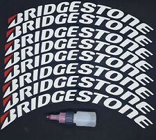 Tire Lettering stickers Bridgestone Permanent  (9Kit)