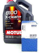 Motul 5W30 5W-30 8100 X-Clean+ Öl + Ölfilter Mahle OX 401D Opel 109220 5 Liter